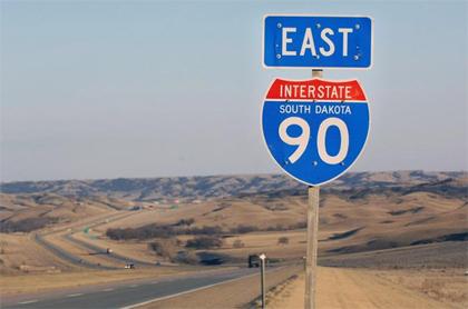 Interstate 90 South Dakota - Courtesy of KSFY, thanks!